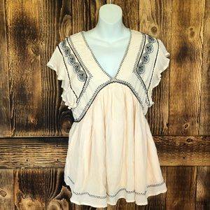 Free People - Falling Water Embroidered Tunic -XS